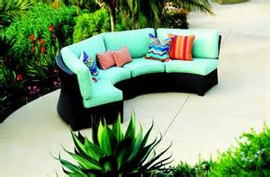 Curved Patio Sofa Valencia Curved Outdoor Wicker Sectional Sofa At Gowfb Ca Patio Republic