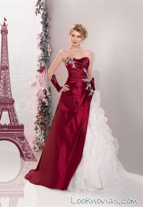 imagenes de vestidos de novia rojo con blanco originales vestidos con bordados en color