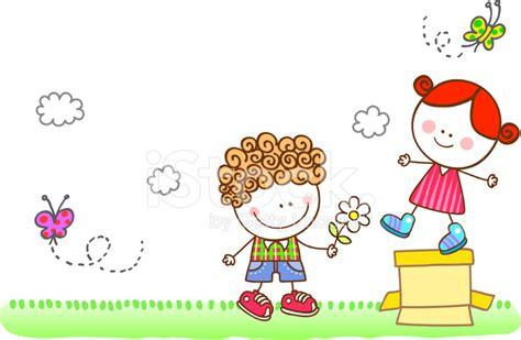imagenes de niños felices animados amante coqueteos ilustraci 243 n de dibujos animados para
