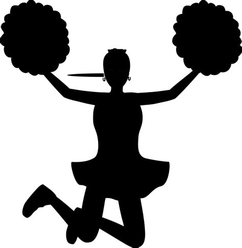 cheerleading clipart free vector graphic cheergirl cheering pom poms