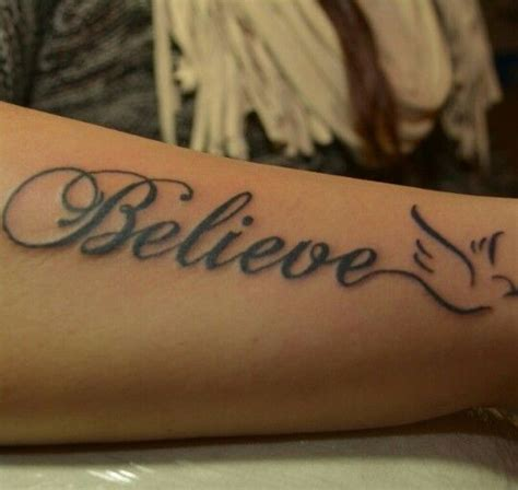 believe tattoo best 20 believe tattoos ideas on meaningful