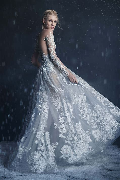 Snow Dress paolo sebastian 2016 winter couture wedding dress