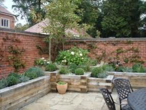 Small Walled Garden Design Ideas Walled Courtyard In Seer Green Fyne Design Garden Design Landscaping Services