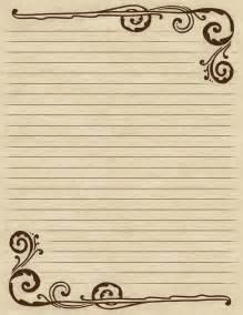 Designer Writing Paper Lilac Amp Lavender Swirling Border Amp Lined Paper