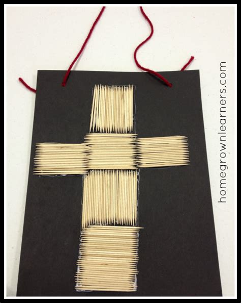 lent crafts for simple lenten cross craft homegrown learners