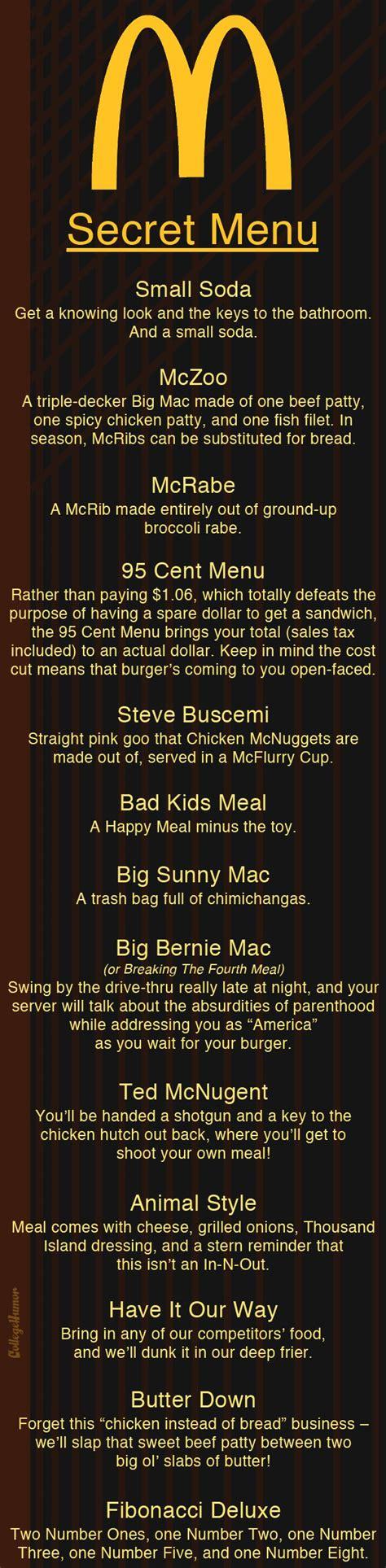 secret menu even more secret menus page 3 collegehumor post