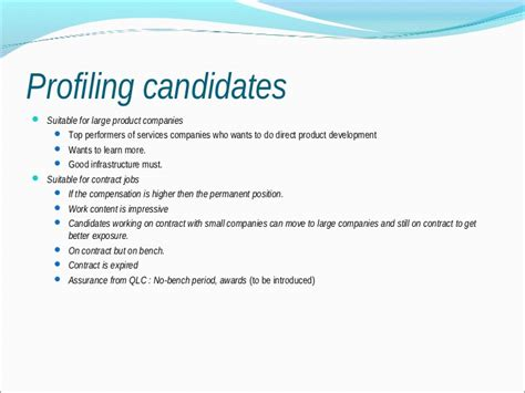 understanding candidates for better recruitment