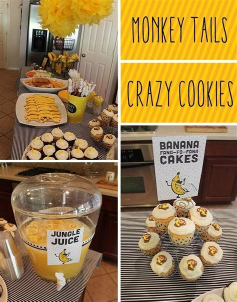 banana themed go bananas themed kids birthday party doodle dog creative