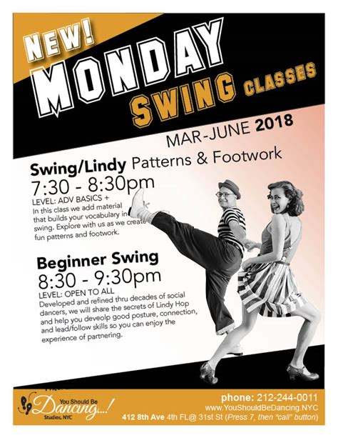 Swing Classes - swing classes mondays lindy hop all