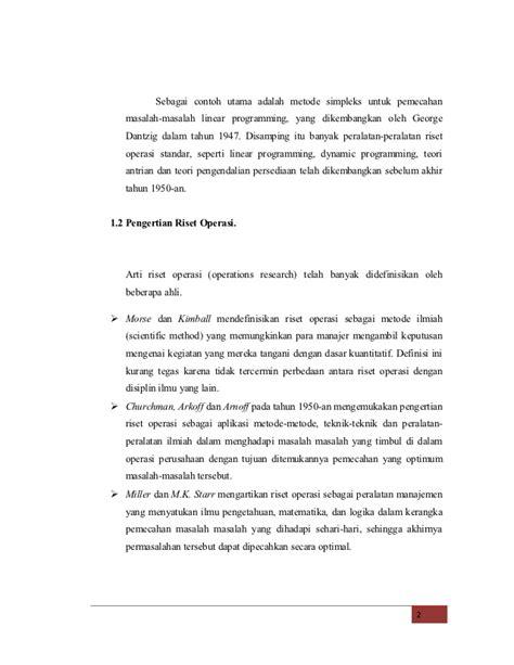 Buku Operation Research Teknik Pengambilan Keputusan Optimal bab i