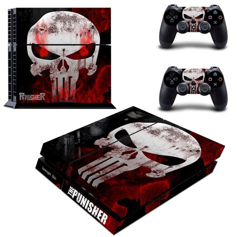 ps4 console skin punisher skull marvel vinyl decals
