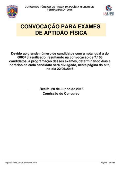 lista dos aprovados concurso pm de pe 2016 lista dos aprovados no concurso da pol 205 cia militar de