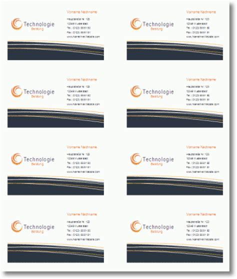 Visitenkarten Word Vorlage Download by Visitenkarten Vorlage F 252 R Word Kostenlos Runterladen
