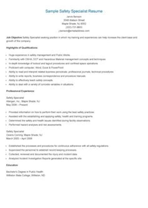 sle regulatory specialist resume resame resume