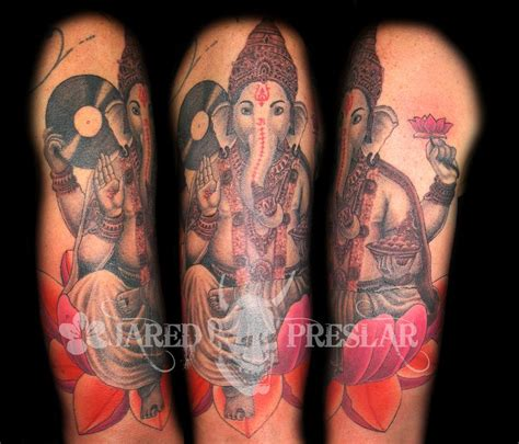 ganesh tattoos lucky bamboo tattoos half sleeve ganesh