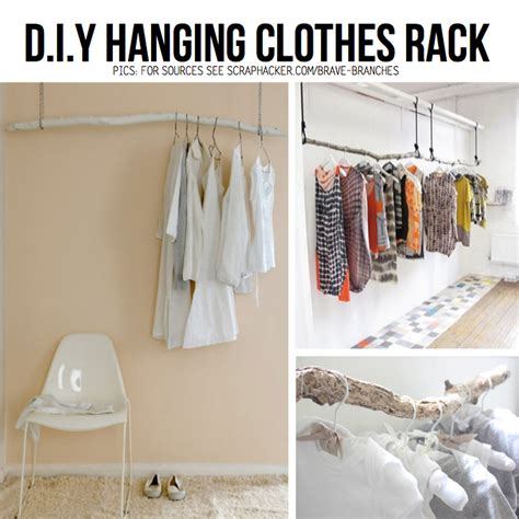 Diy Hanging Clothes Rack put your stuff up in the air hanging diy ideas tutorials