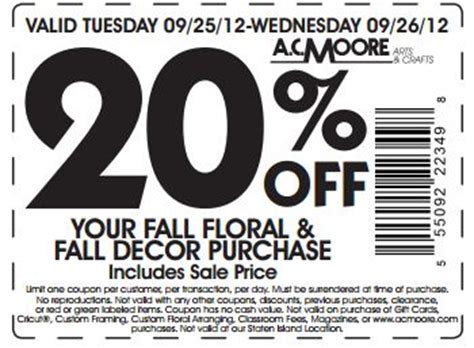 ac 20 fall decor printable coupon