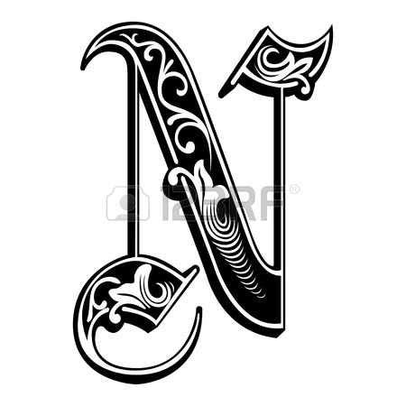 lettere alfabeto stile gotico decorazione alfabeti inglese stile gotico la