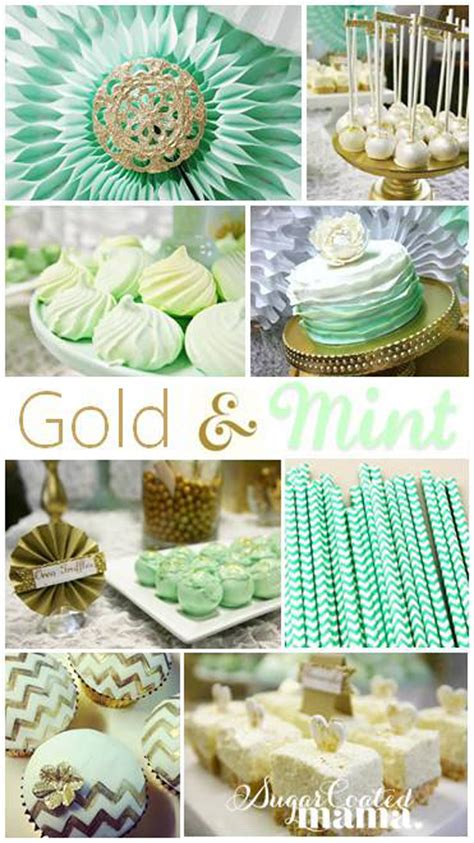 gold themes party kara s party ideas mint and gold party planning ideas