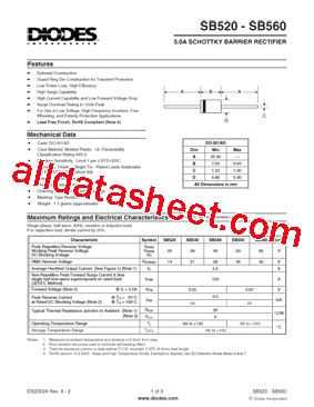 diode marking sb sb560 a datasheet pdf diodes incorporated