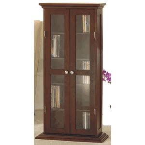 Cd Cabinets With Glass Doors Cd Dvd Media Storage Cabinet With Glass Doors