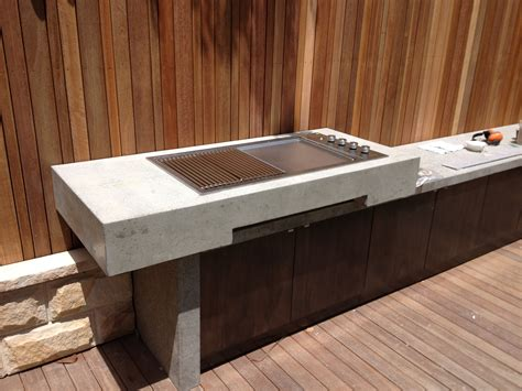 outdoor bbq bench tops recent projects polished concrete koolis and sons