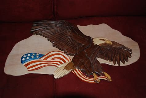 american eagle woodworking woodworking for sale intarsia eagle large size with
