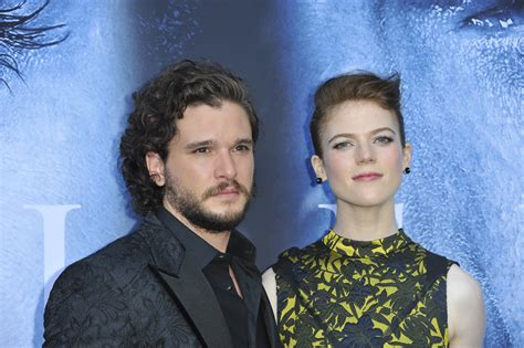 House Costars Engaged by Of Thrones Co Kit Harington And Leslie Are