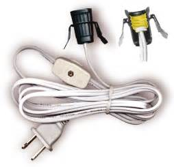 lamp cord sets with socket switch and molded plug spt 1