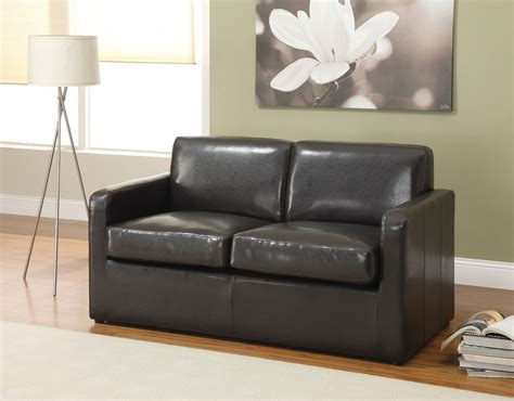 casby espresso pu leather sofa bed full sleeper