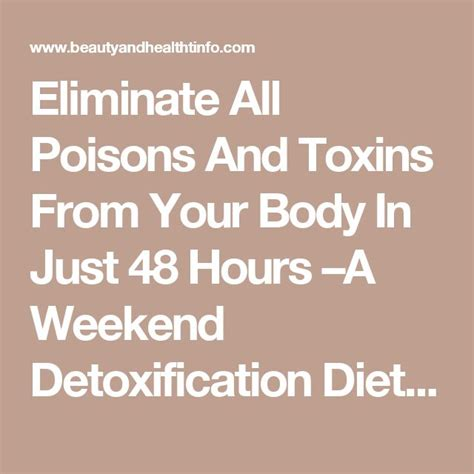 Do Detox Diets Remove Toxins From The by Best 25 Detoxification Diet Ideas On Juice