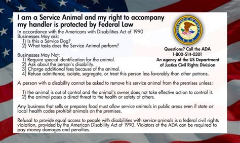 service animal card template no service dogs allowed huffpost