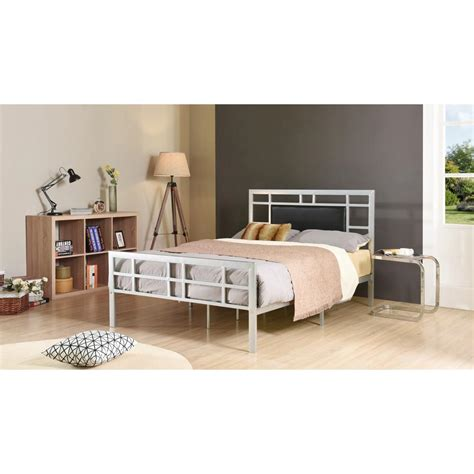 silver queen bed silver queen upholstered bed hi826 q silver the home depot