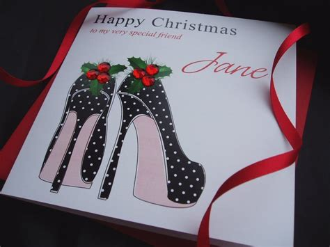 Shoes Com Gift Card - handmade christmas card holly shoes handmade cards pink posh
