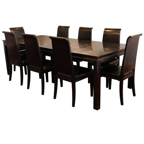 asian dining room sets asian style black lacquered elmwood dining table and
