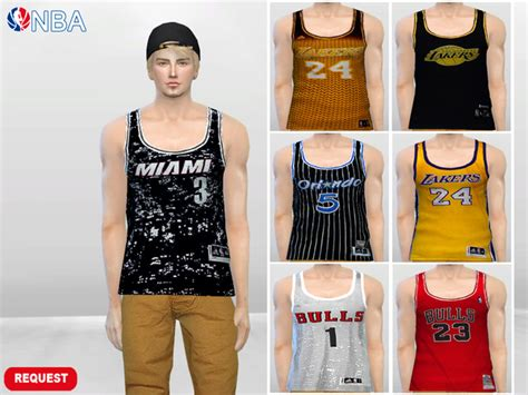 tsr sims 4 clothes sports the sims 4 nba sport jersey tanks request by mclaynesims