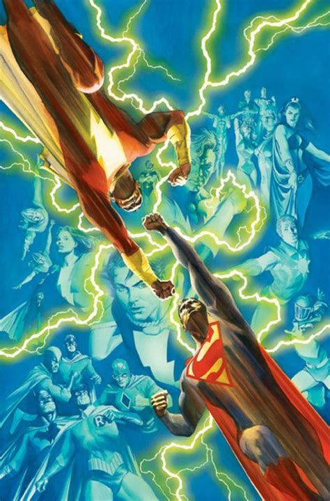 superman vs captain marvel shazam captain marvel vs superman by alex ross illustration