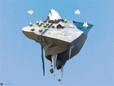simple voxel floating island blender 3d youtube low poly island winter by maty241 on deviantart blender