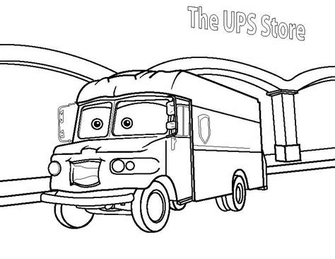 coloring pages mail truck mail truck coloring page ups from the sketch coloring page