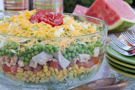 rainbow stacked salad mrfood com