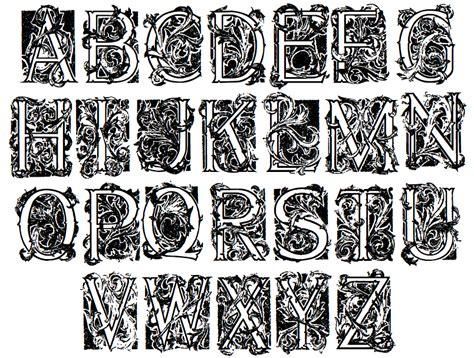decorative initials font speedball text book