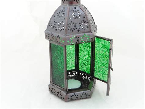 Handmade Lantern - lantern tea light candle holder moroccan ethnic glass