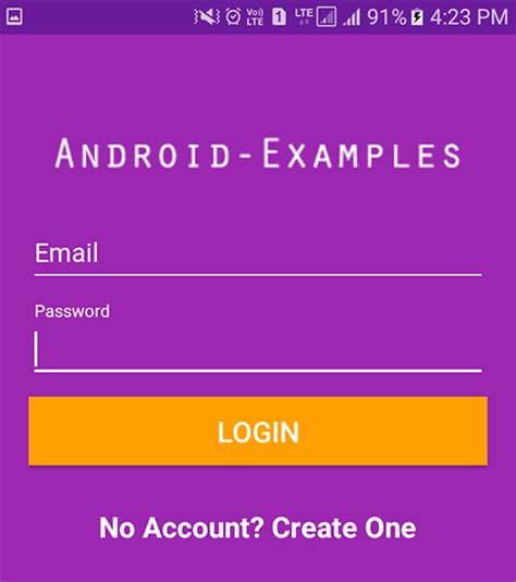 android ui pattern source code android login ui design screen exle tutorial with