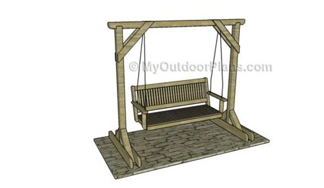 porch swing plans with stand porch swing stand plans myoutdoorplans free