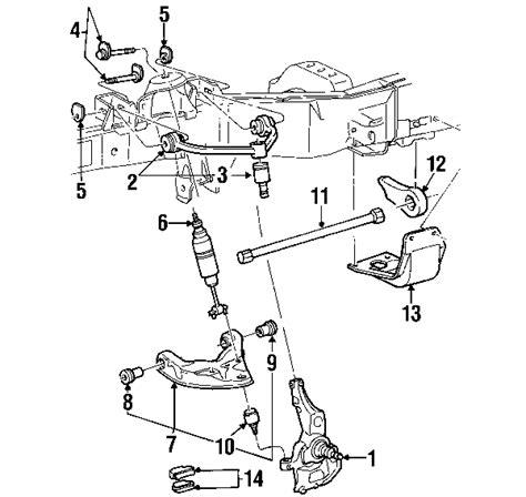 2002 ford explorer parts diagram parts 174 ford spdl asy frt whl brk partnumber 1l5z3105aa