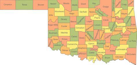 map of oklahoma counties oklahoma ok travel around usa