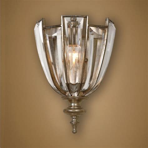 Uttermost Wall Sconces Uttermost Burnished Silver Chagne Vicentina 1 Light Wall Sconce Burnished Silver Chagne