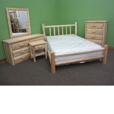 White Cedar Bedroom Furniture by Northern White Cedar 5pc Log Bedroom Set Amish Log Furniture