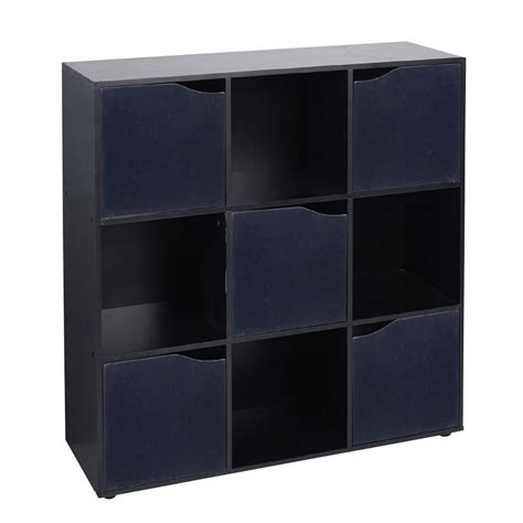 hudson 9 cube bookcase 4 6 9 cube wooden storage unit bookcase shelving display