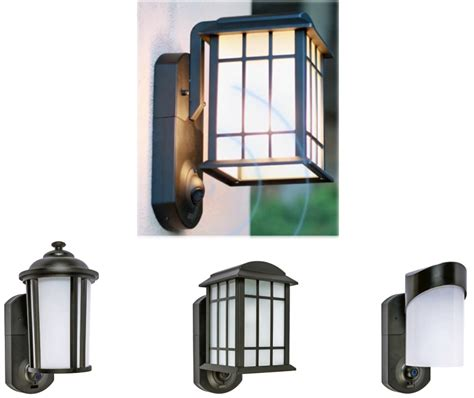 Front Door Light Fixture Keep A Eye On What S Happening At Your Front Door With The Kuna Lighting Fixture The Gadgeteer